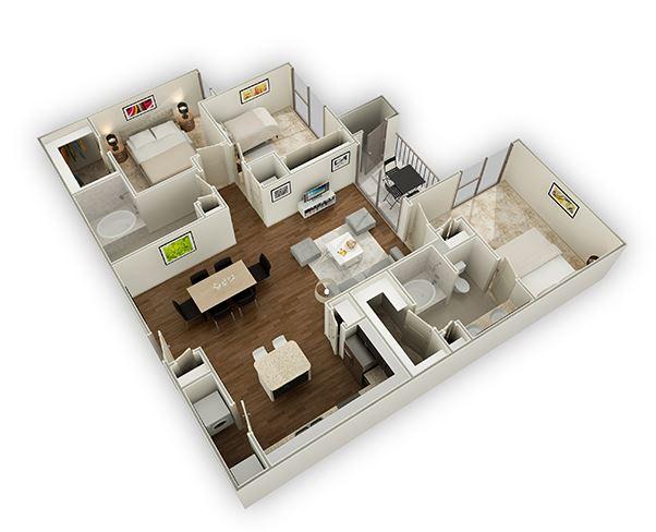 Three Bedroom Apartments In The Energy Corridor