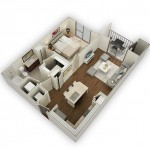THE ENCLAVE ONE - BEDROOM ONE BATH 664