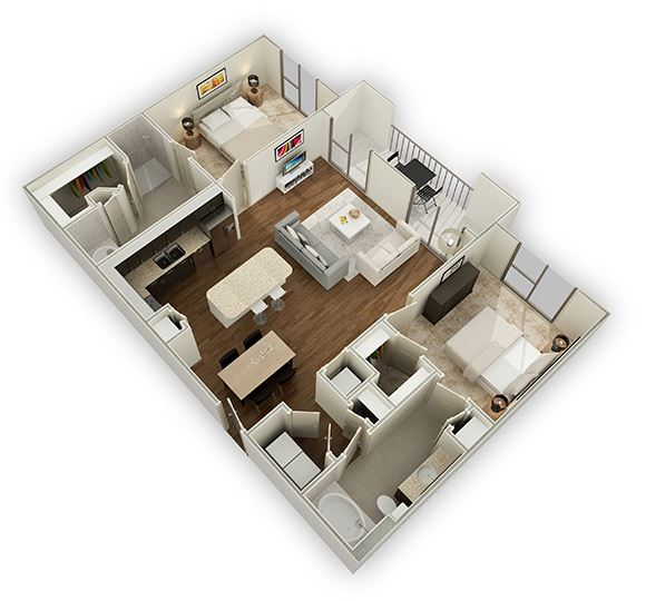 two bedroom apartments in The Energy Corridor