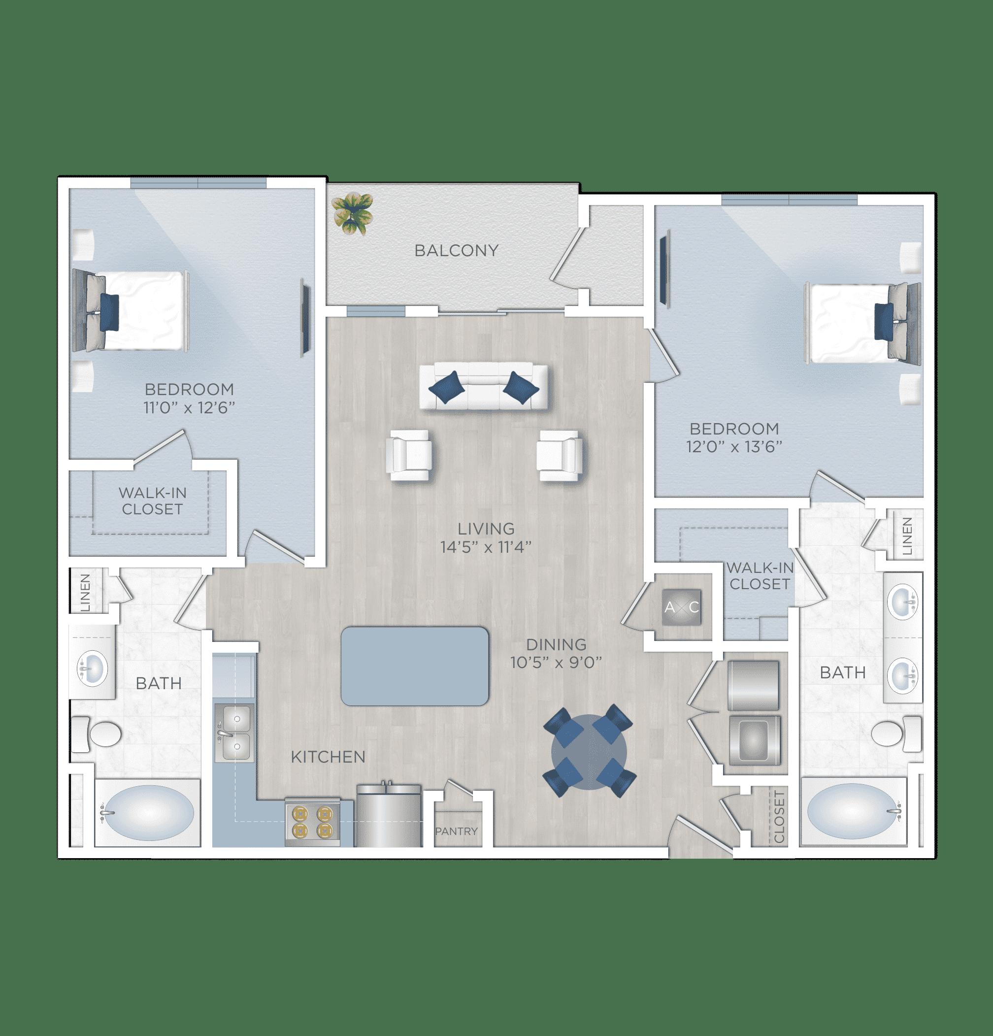Two Bedroom Apartments in Houston's Energy Corridor